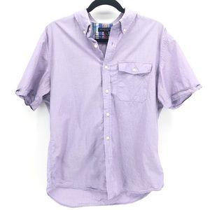 Banana Republic Purple  Button Down Shirt L Mens